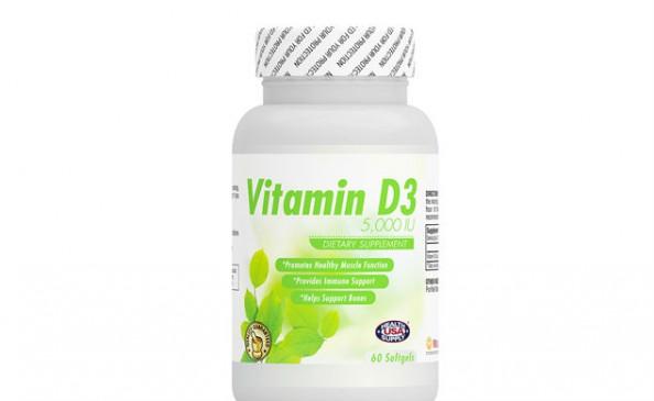 Vitamin D3 5,000IU (Cholecalciferol D3) #2124